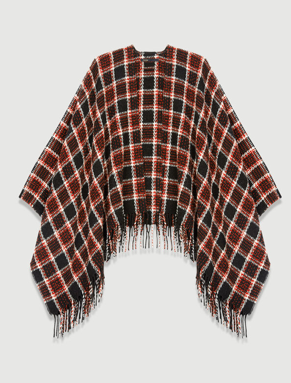Checked poncho : Scarves and shawls color 0309