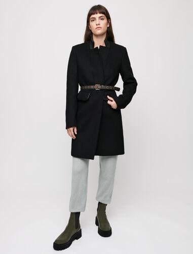 Wool broadcloth coat : Coats & Jackets color Black