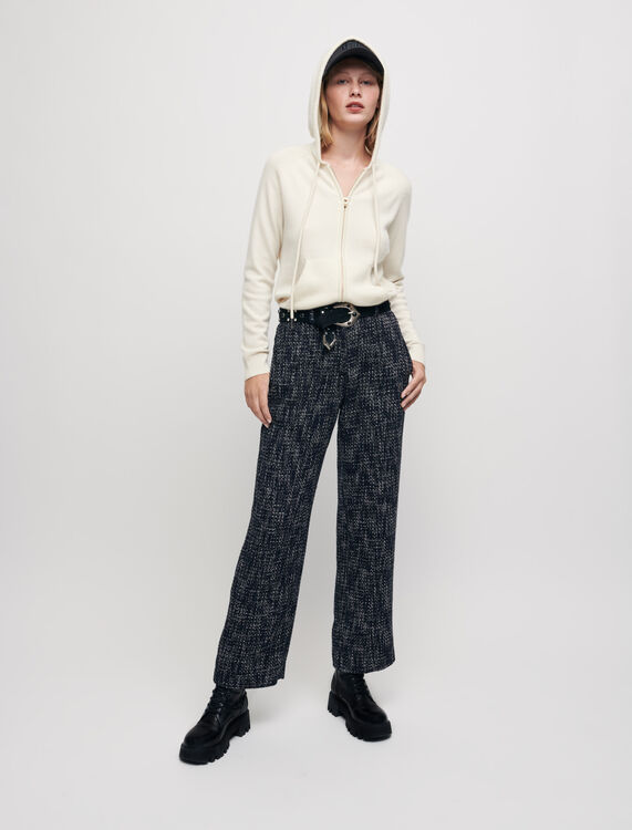 Wide-leg tweed-style trousers - Trousers & Jeans - MAJE
