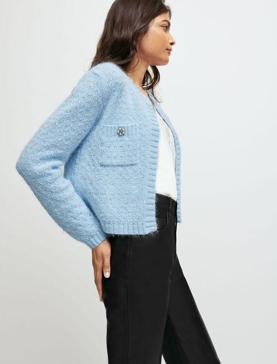 Fancy knit cardigan - Sweaters & Cardigans - MAJE