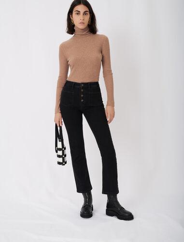 微喇九分牛仔裤 : 牛仔裤 顏色 黑色/BLACK