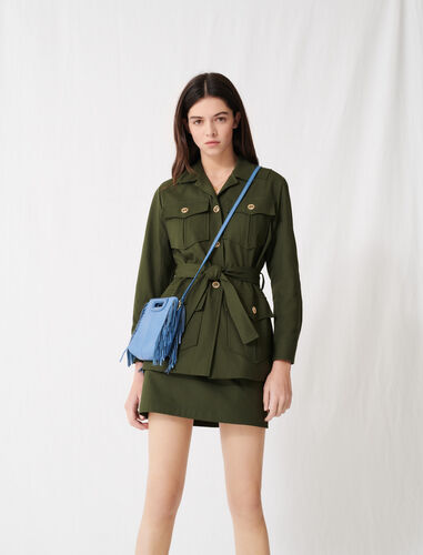 Belted safari-style coat : Coats & Jackets color Dark Khaki