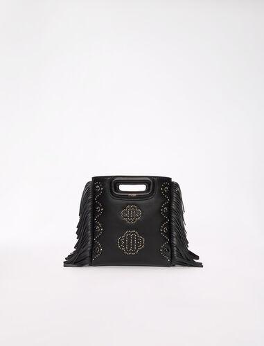三叶草饰钉皮革包 : M Bag 顏色 黑色/BLACK