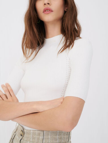 Fine ribbed sweater : View All color Ecru