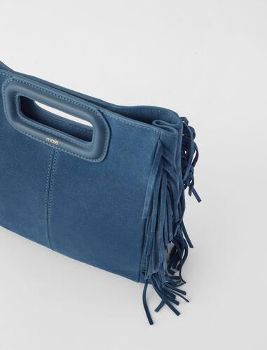 Suede M bag : Shoulder bags color Camel