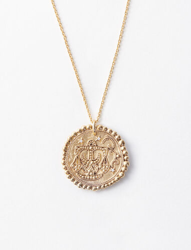 """Balance"" astrological necklace : Zodiac medals color Old Brass"
