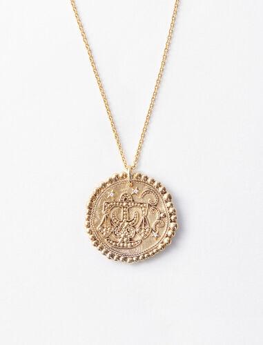 天秤座立体图案项链 : 星座系列 顏色 古铜色/OLD BRASS