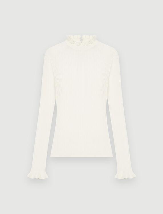 Fancy high-neck lightweight sweater - Sweaters - MAJE
