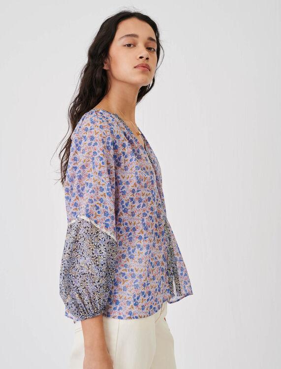 Cotton voile shirt to tie - Shirts - MAJE