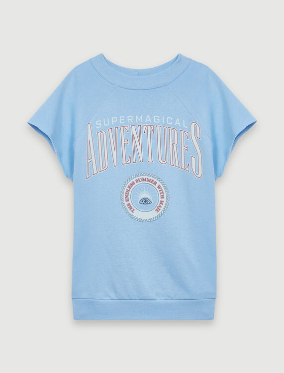 Sky blue screen-printed sweatshirt : T-Shirts color Light Blue