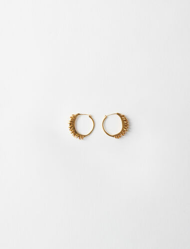 Gold-plated Creole earrings : Jewelry color Gold