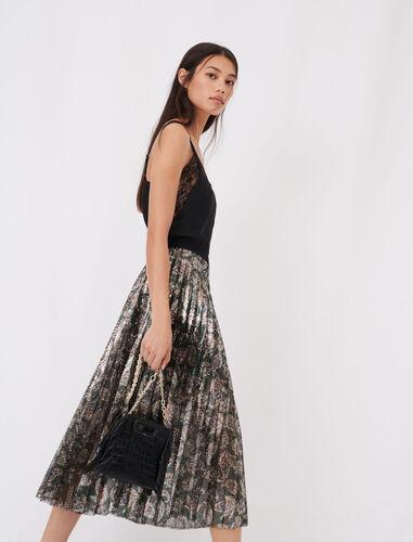 亮片百褶半身裙 : 半身裙及短裤 顏色 多色/MULTI-COLOR