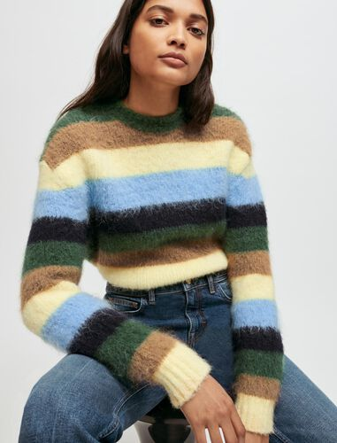 Striped pullover : Sweaters & Cardigans color Multi-Coloured