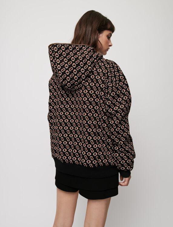 Oversized Maje printed sweatshirt - Tops - MAJE