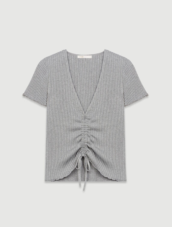 Fine lurex jumper - Sweaters - MAJE