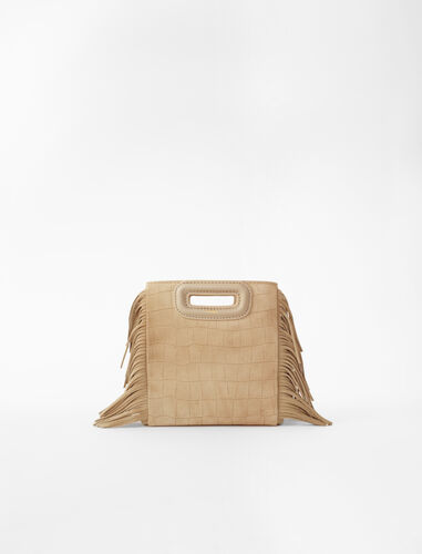 Mini embossed-suede M bag : M Mini color Sand