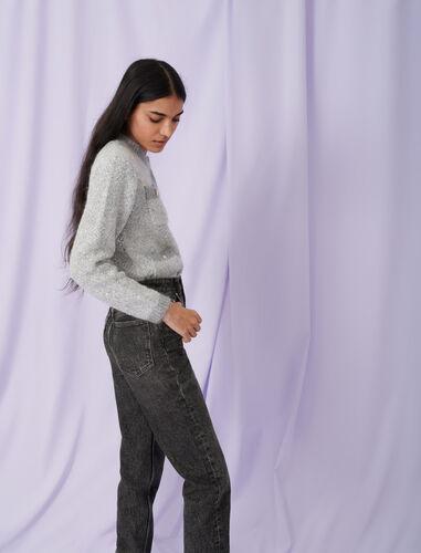Lurex cardigan : Cardigans color Grey