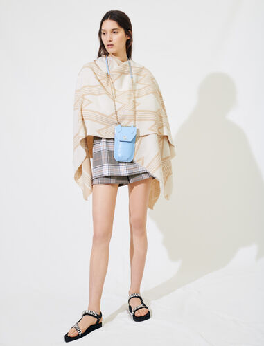Ecru poncho with maxi M logos : Other accessories color Ecru