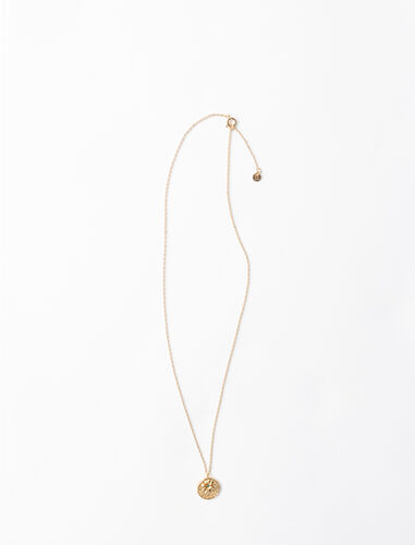 """Ma Chance"" gold-plated necklace : Jewelry color Gold"