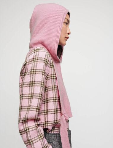 带帽针织领上衣 : Sweaters & Cardigans 顏色 粉色/PINK