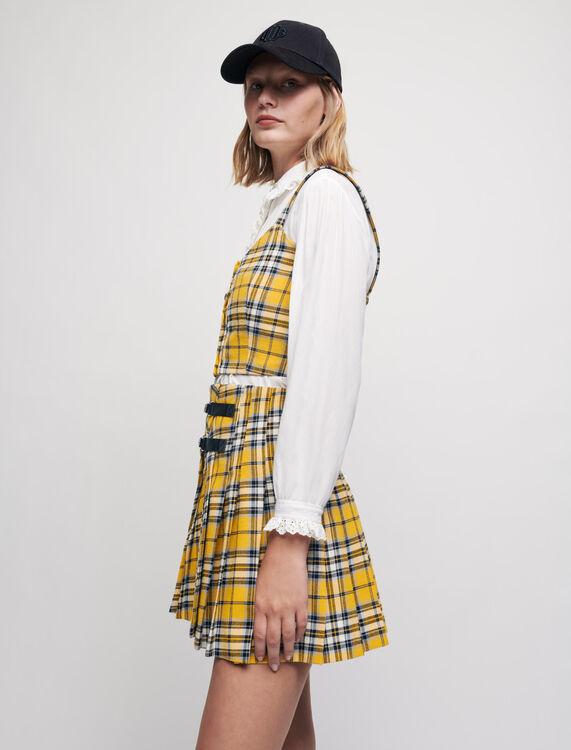 Kilt-style checked pleated skirt - Skirts - MAJE