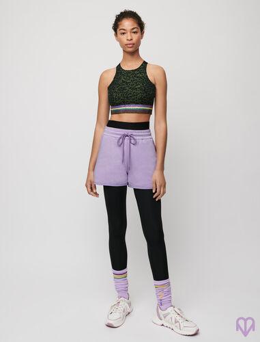 Fleece sports shorts : Skirts & Shorts color Mauve