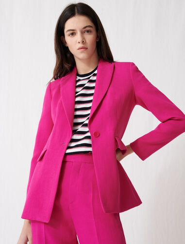 Fuchsia tailored jacket : Coats & Jackets color Fuchsia