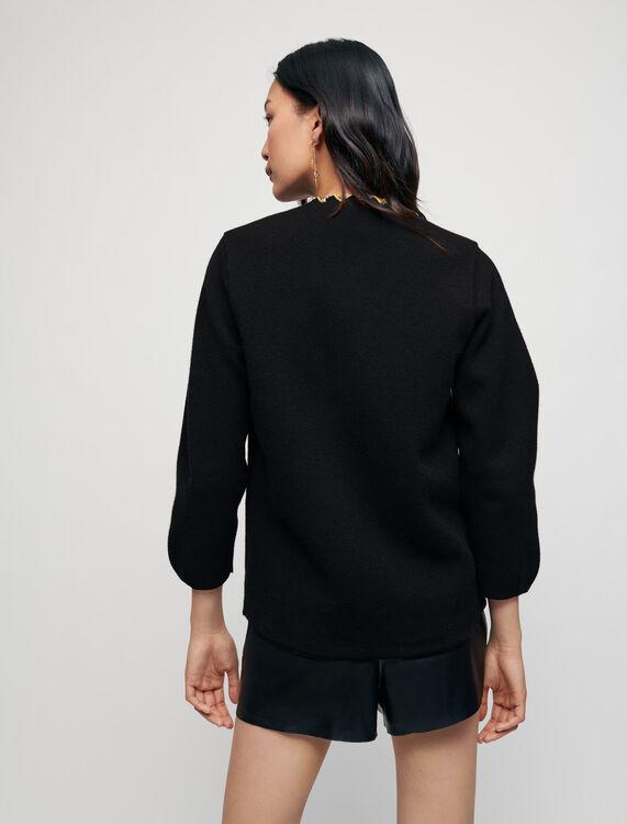 Reversible checked cardigan - Cardigans - MAJE