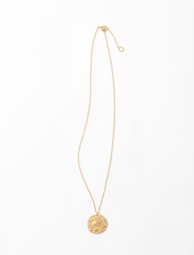 巨蟹座雕刻工艺项链 : 星座系列 顏色 金色/GOLD