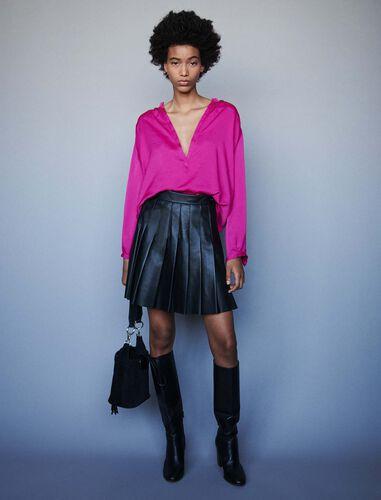 Satin top : Tops color Pink