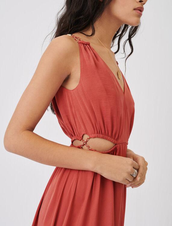 Satin dress with braided straps - Dresses - MAJE