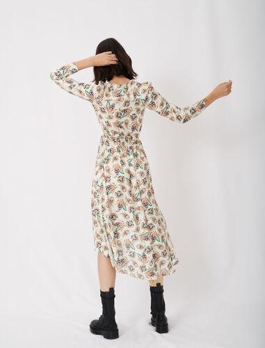 V领不规则连衣裙 : 连衣裙 顏色 A006