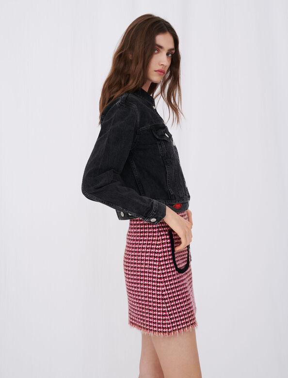 Denim jacket with badge : Coats & Jackets color Anthracite