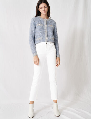 White straight-cut jeans : Jeans color White