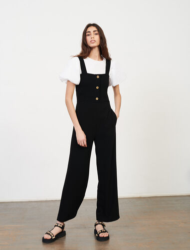 Crêpe jumpsuit : Jumpshort & Jumpsuits color Black