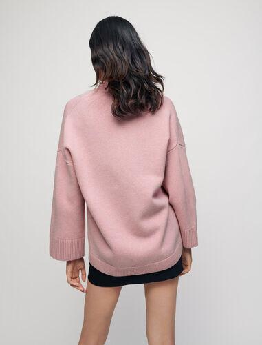 樱花粉V领针织外套 : Sweaters & Cardigans 顏色 粉色/PINK
