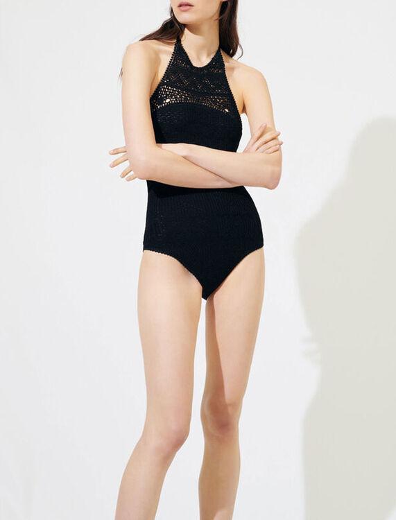 Crochet-style swimsuit - Tops - MAJE