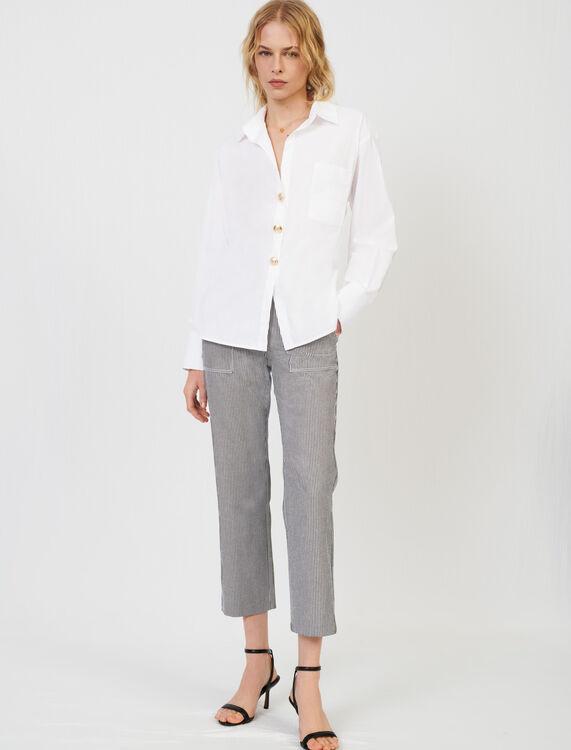 Oversize poplin shirt - Shirts - MAJE