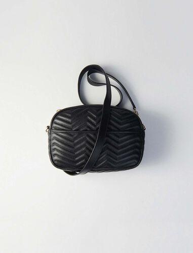 Quilted leather GM shoulder bag : Camera bag color Black