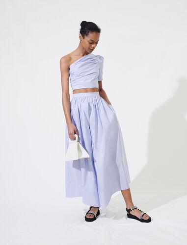 Taffeta slip-style culottes : Shorts color Lavender