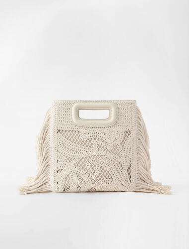 Macramé M bag : M Bag color Off White