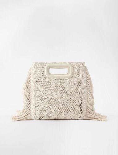 Macramé M bag : M Bag color Off White