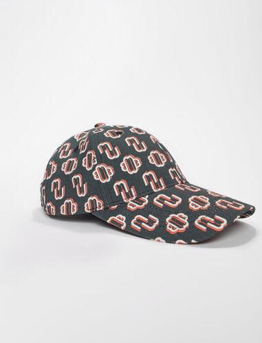 Cotton clover print cap : Other accessories color Black