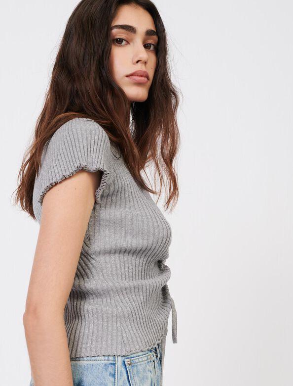 Fine lurex jumper : Sweaters color Silver