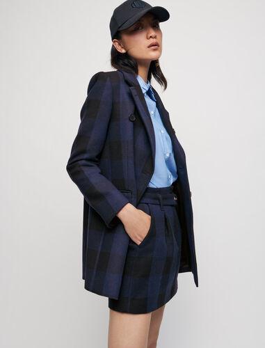 格纹百褶裙 : Skirts & Shorts 顏色 深蓝色/NAVY