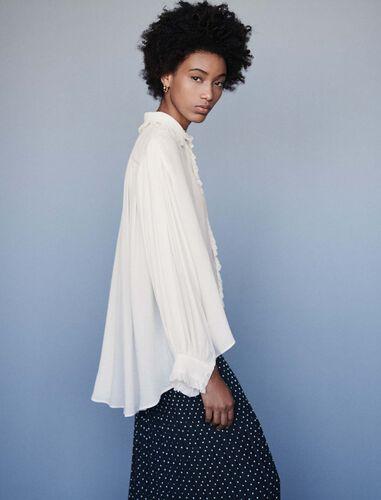 Ruffled shirt : Shirts color Ecru