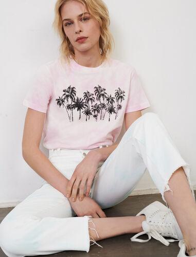 Tie-dye print T-shirt : T-Shirts color Pink
