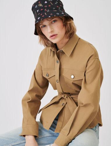 Overshirt-style jacket : Coats & Jackets color Camel