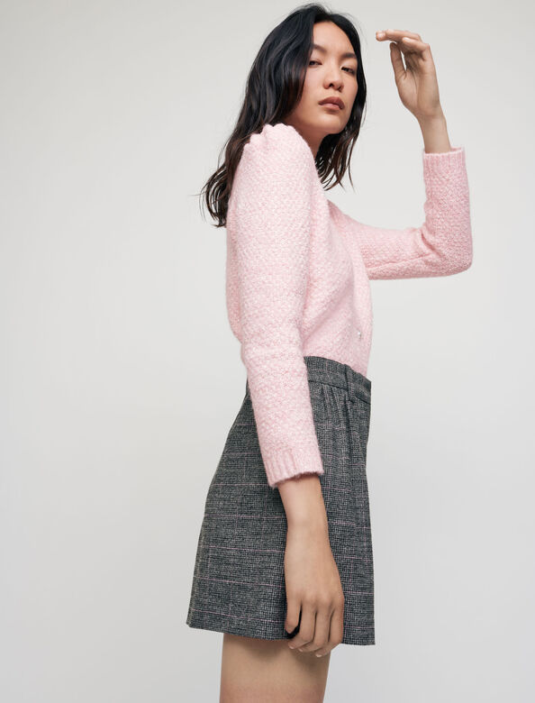 Flowing checked shorts : Skirts & Shorts color Grey