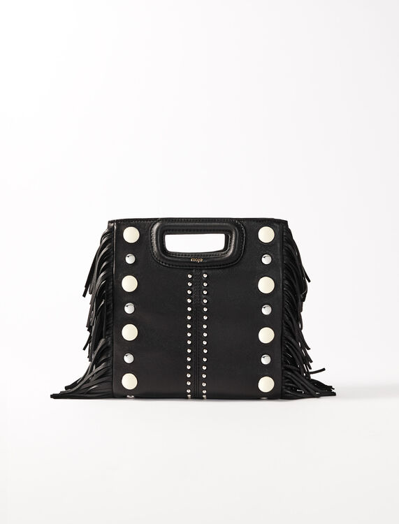 Leather M bag with studs : M Bag color Black